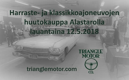 Classic car auction / Klassikkoajoneuvojen huutokauppa, Alastaro, 12.5.2018